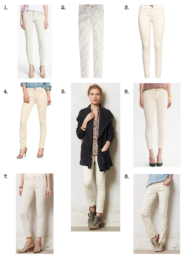 Go Buy Now: Cream Cords & Trousers - The Mom Edit