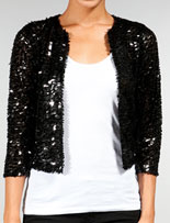 BB Dakota's Black Andisue Sequin Jacket