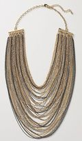 Anthropologie Million Strand Bib Necklace - Silver