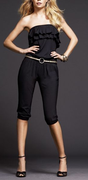 Express Strapless Ruffled Jumpsuit - $49.50