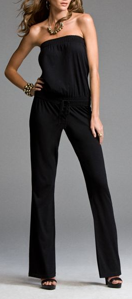 Express Smocked Jumpsuit - $49.50