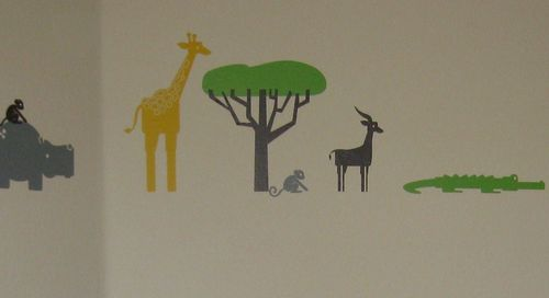 Modern Toddler Room - Safari Animal Wall Stickers