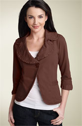 IF's Ruffle Trim Jacket at Nordstroms