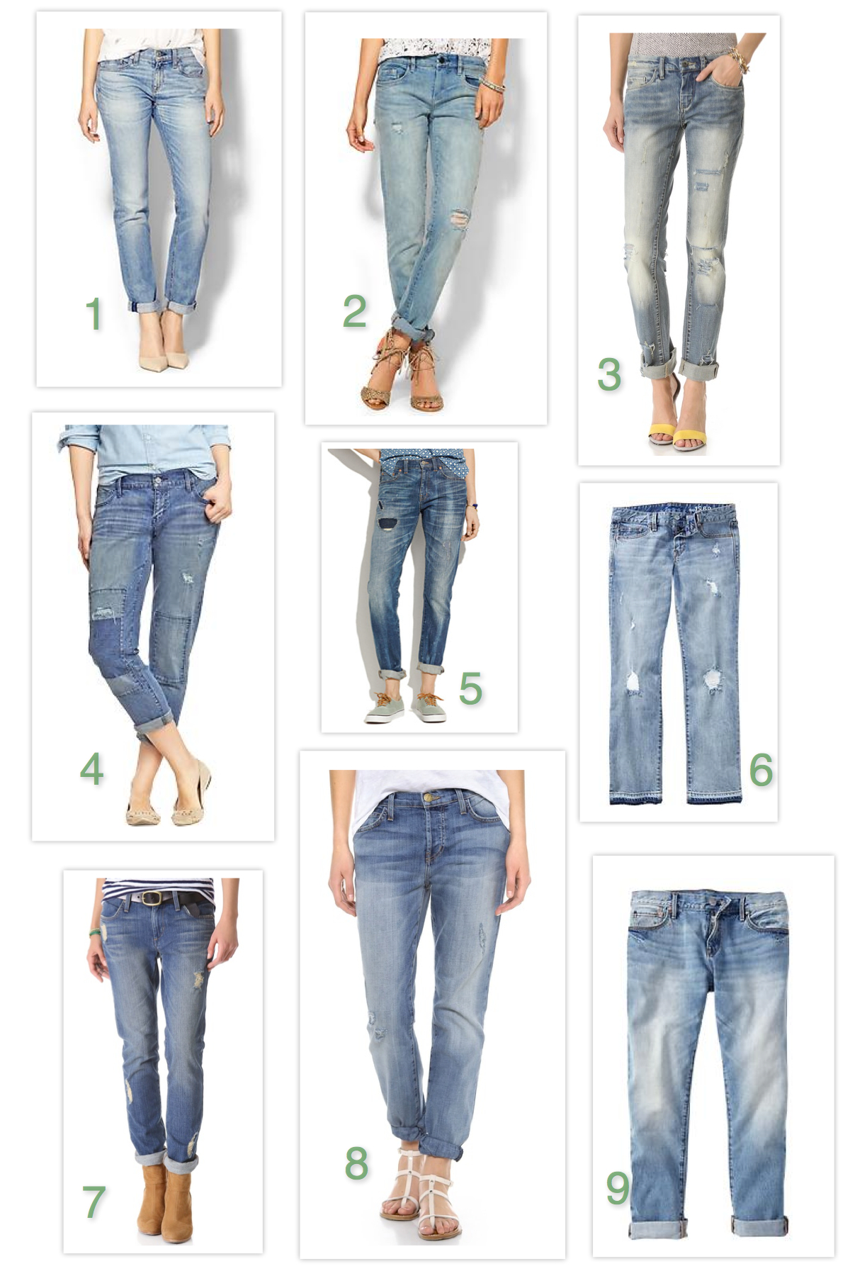 Shopping The Denim of Spring: Light Wash Boyfriend Jeans - The Mom ...