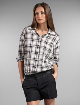 Kimberly Ovitz Hunter Plaid Blouse