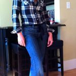 How To Wear Plaid Part 4 – With High-Waisted Denim