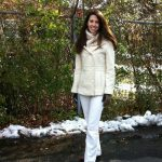 Mom Street Style – Maggie's Cream and White In Winter