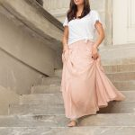 Wear Now and Into Fall:  The Chiffon Maxi Skirt, 3 Ways