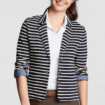 Reader Q | How To Style A Navy & White Striped Knit Blazer?