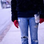 Spring Trend To Wear Now:  Destroyed Denim (with tights)