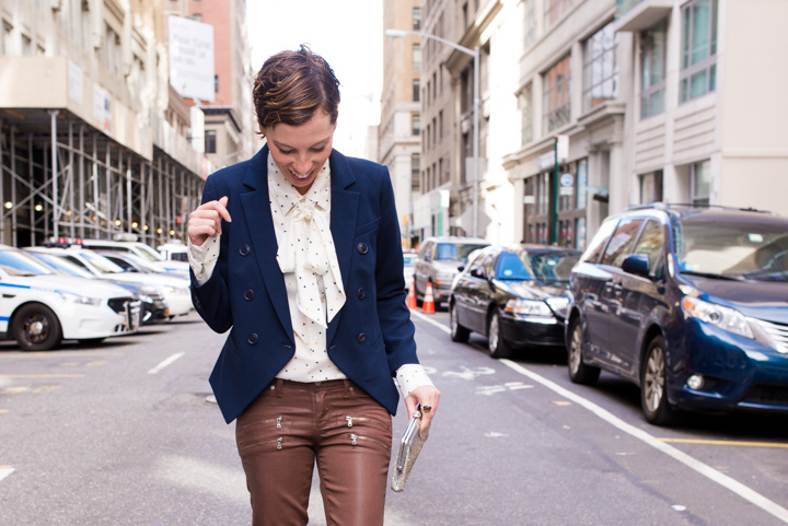 paige-waxed-denim-brown-navy-blazer-silk-blouse-8