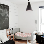 Pinterest To Shoppable Reality:  A Calm, Modern Toddler Room in Black and White