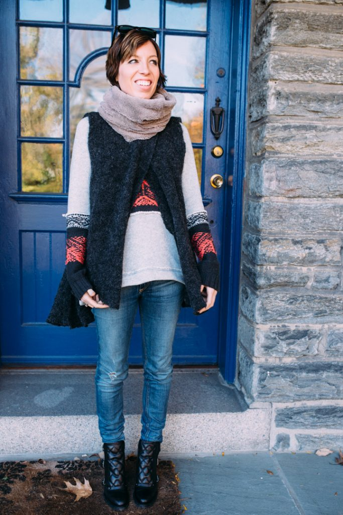 howtolayer-freepeople-vest-marcjacobs-boots-fauxfur-scarf-2