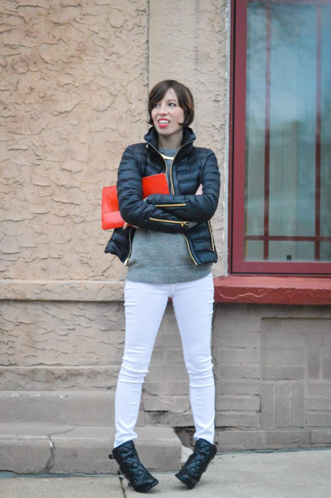 marc-jacobs-quilted-booties-white-jeans-zady-sweater-gold-jcrew-choker-french-connection-packable-down-jacket-2