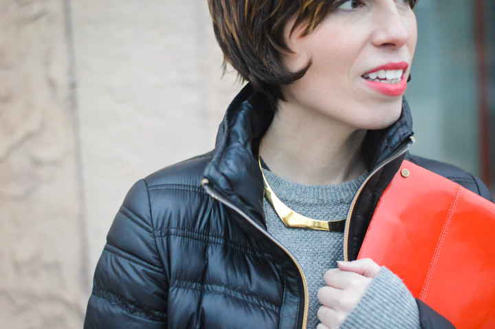 zady-sweater-gold-jcrew-choker-french-connection-packable-down-jacket-2