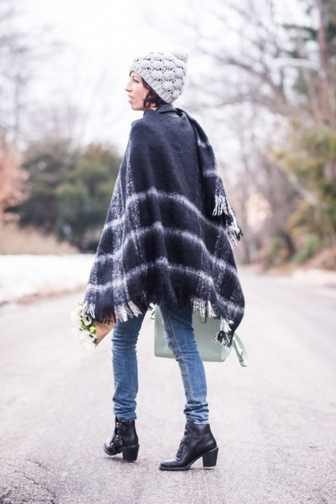 anthropologie-plaid-cape-iro-leather-jacket-ragandbone-skinnies-marcjacobs-booties-kate-spade-pastel-bag-2