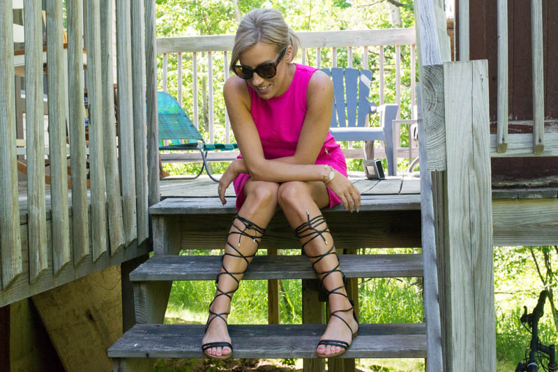 gladiator sandals and dress