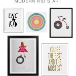 Modern Kid's Art & The Best Gallery Wall Tip
