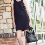 Dressing the First Trimester: Black Dress + Black Converse