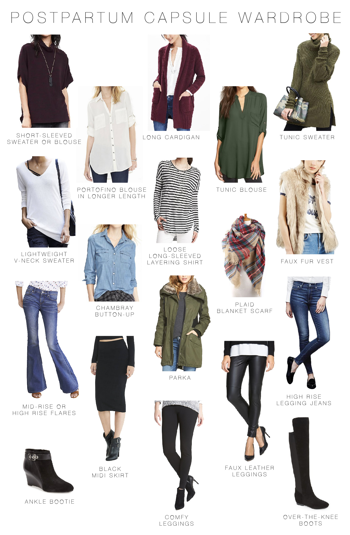 fortable Affordable Post Partum Capsule Wardrobe