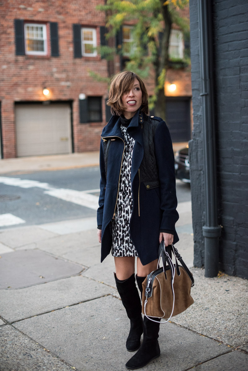 Over The Knee Boots And Shift Dresses: Two Ways to Style