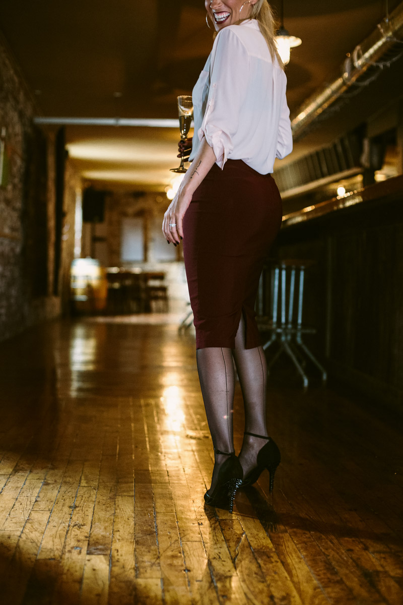 oxblood-pencil-skirt