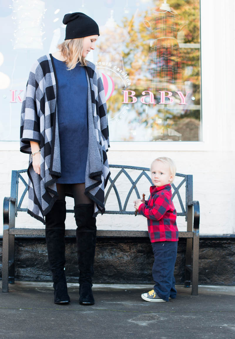 how-to-wear-suede-while-pregnant