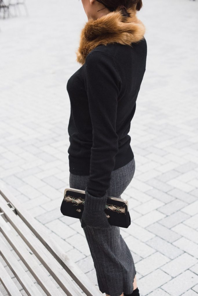 black-sweater-gray-skirt
