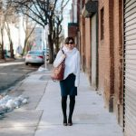 Office Edit:  Three Clever Ways To Style a Navy Pencil Skirt With Black Tights