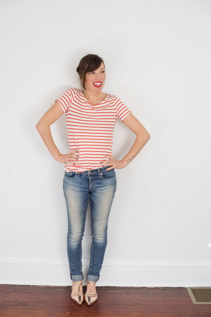 red-striped-tee