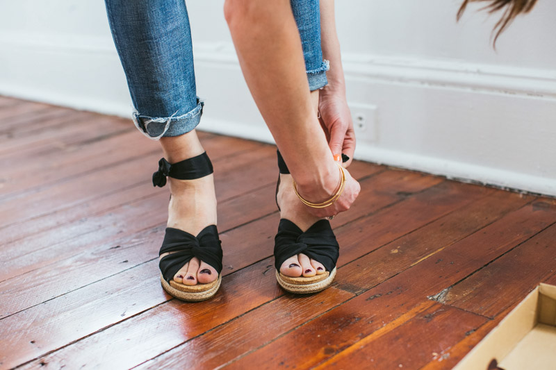 black-ankle-strap-wedges