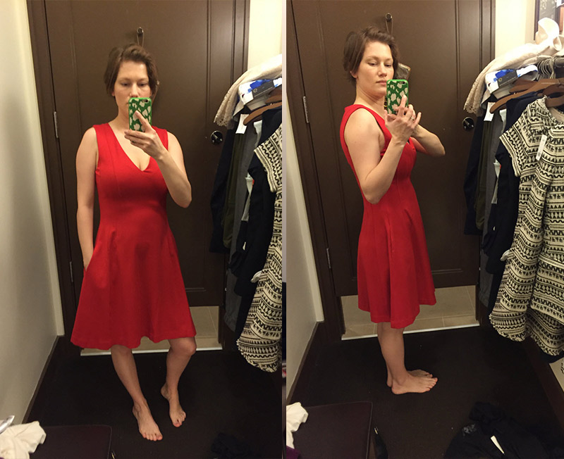 red-fit-flare-dress