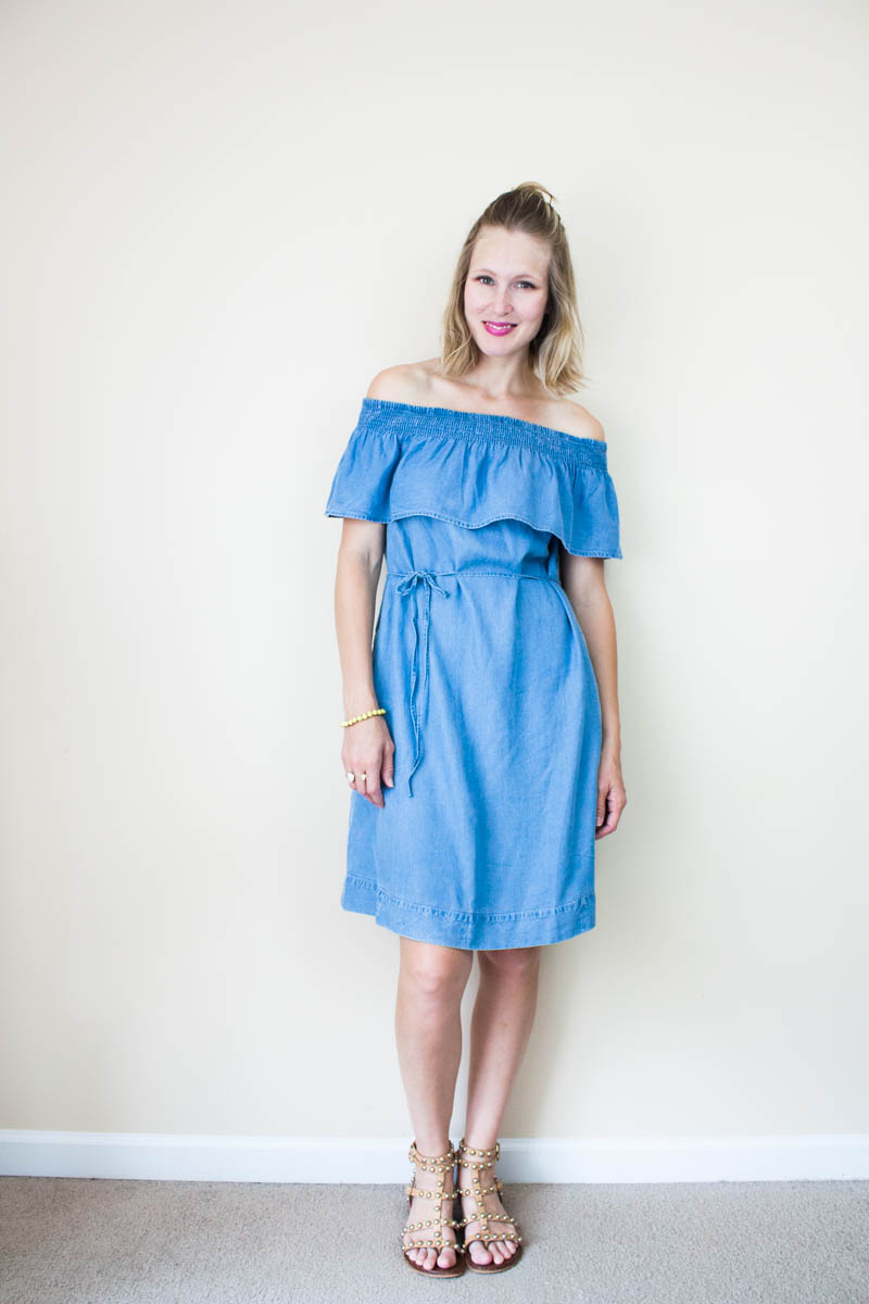 chambray-off-the-shoulder-dress