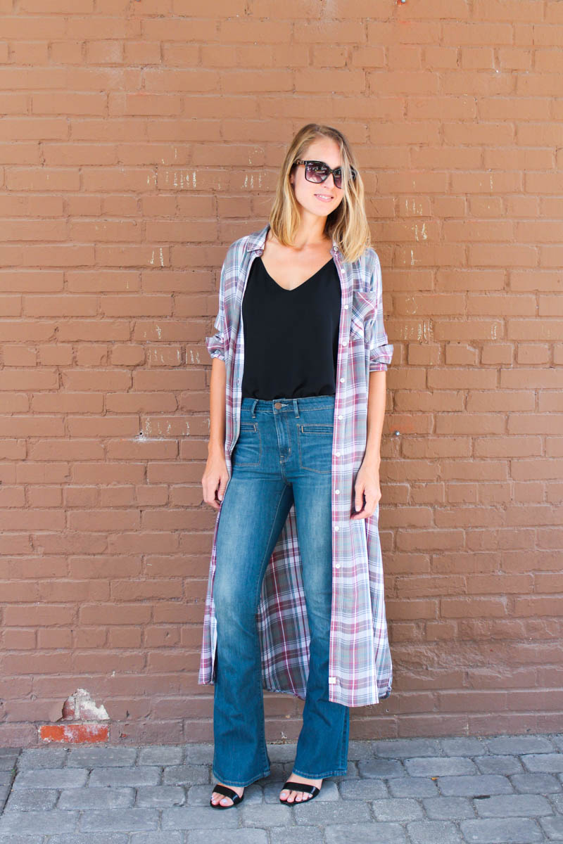 plaid-tunic-with-flares