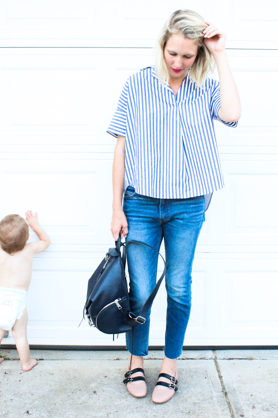 striped madewell top