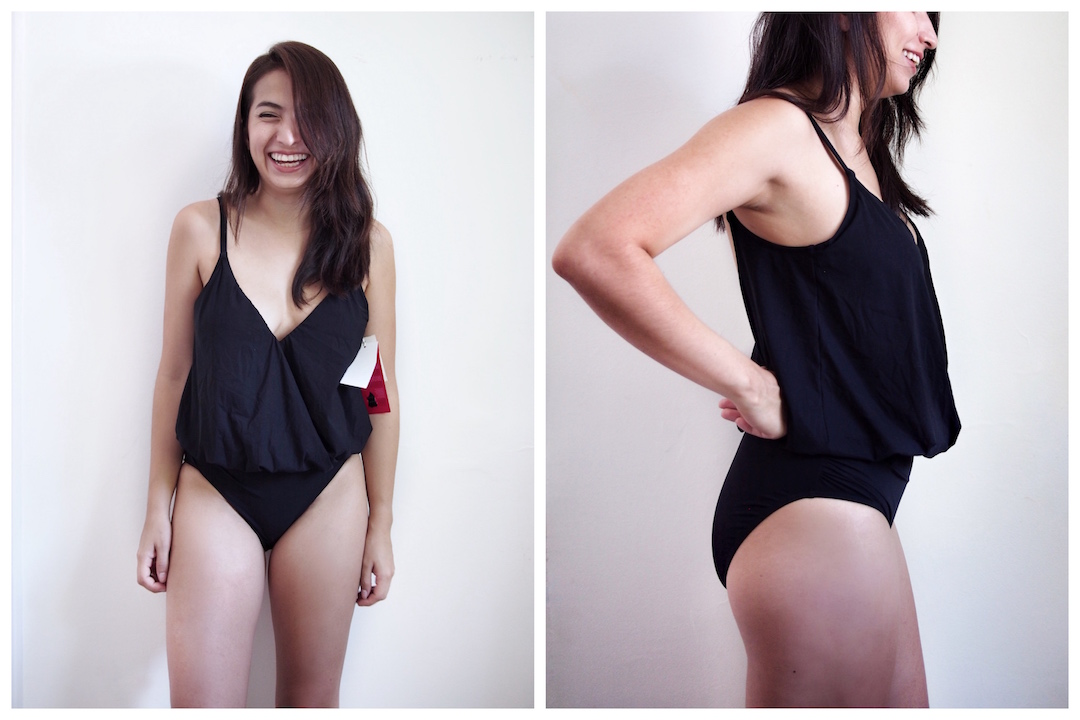 blouson swimsuit - postpartum swimwear