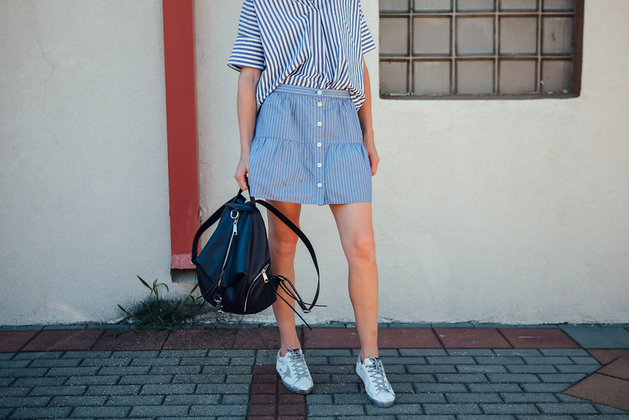 golden goose sneakers outfit (1 of 1)