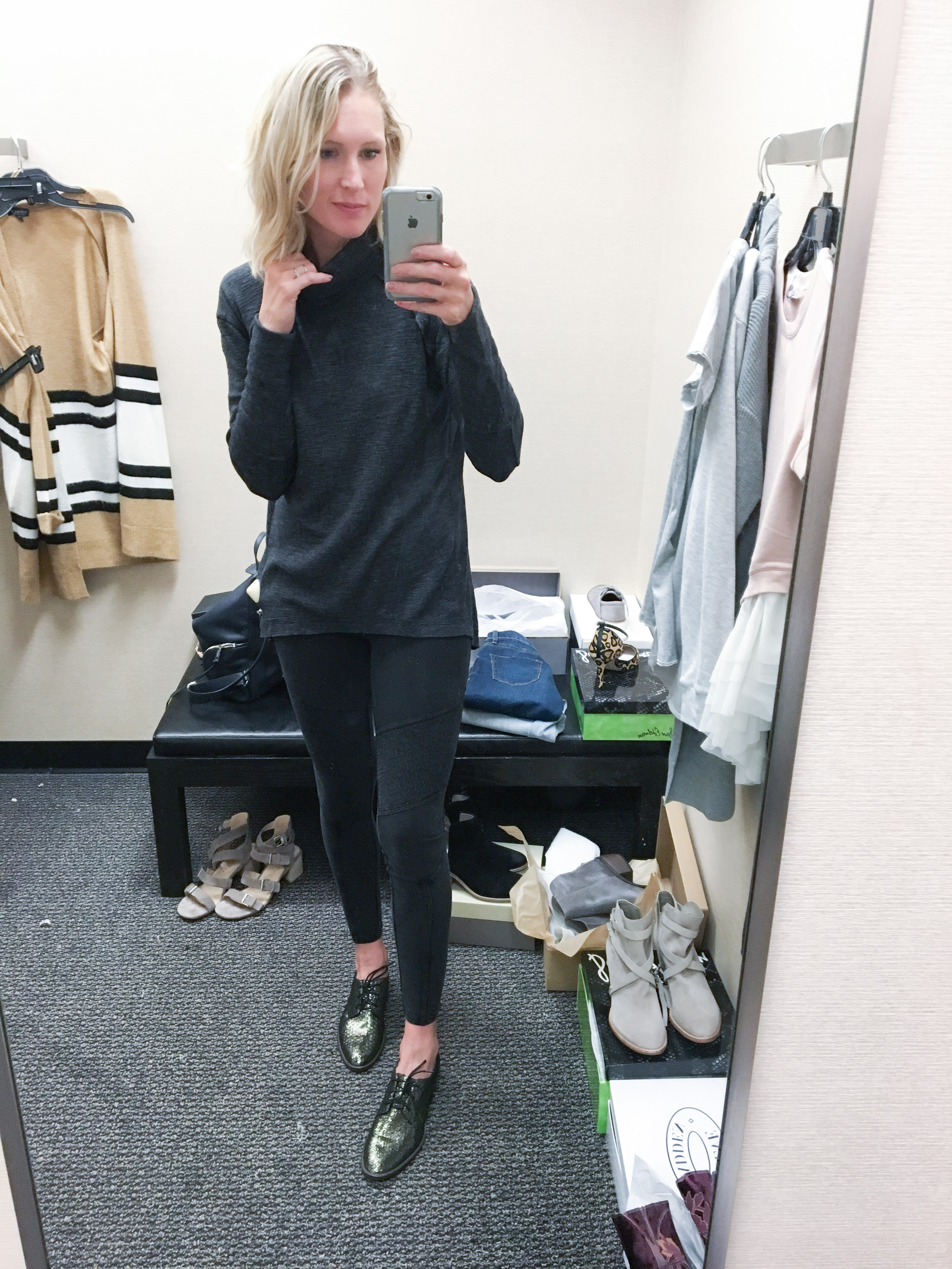 moto leggings with slouchy sweater (1 of 1)