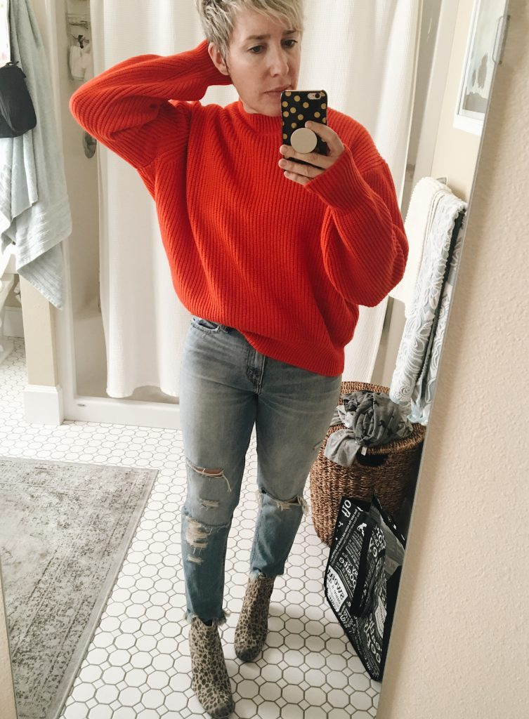 red and leopard boots