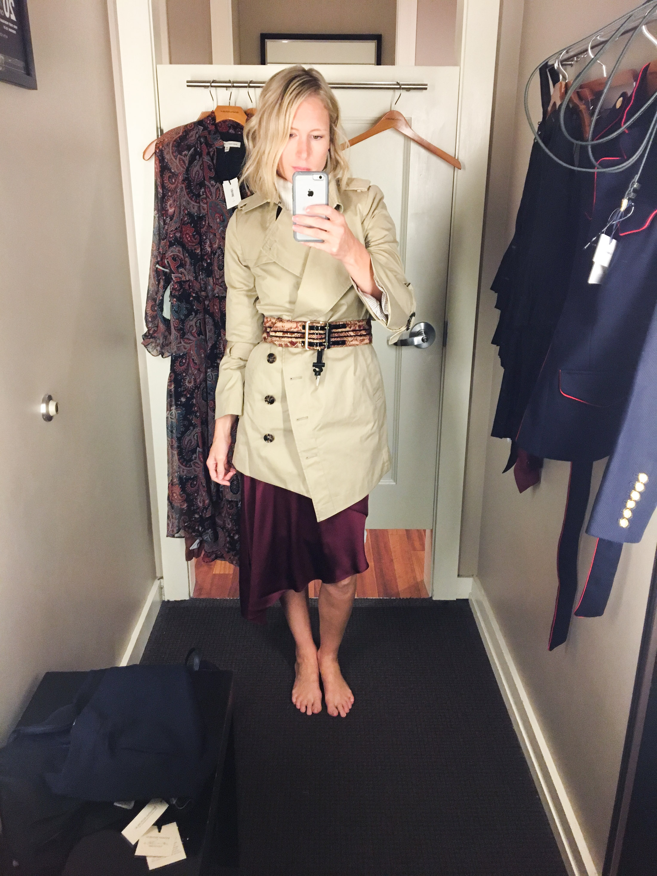 belt with trench coat