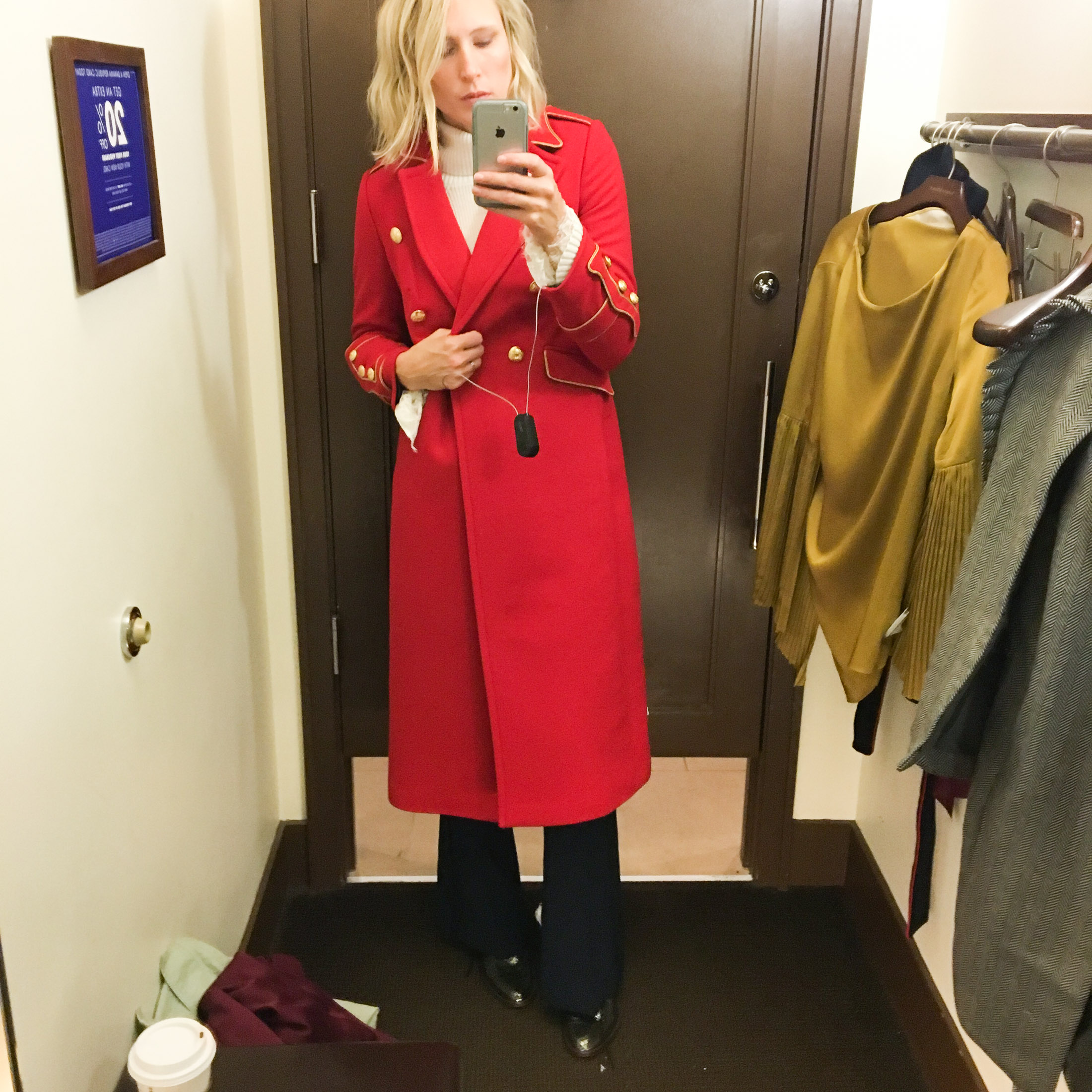 long red military coat
