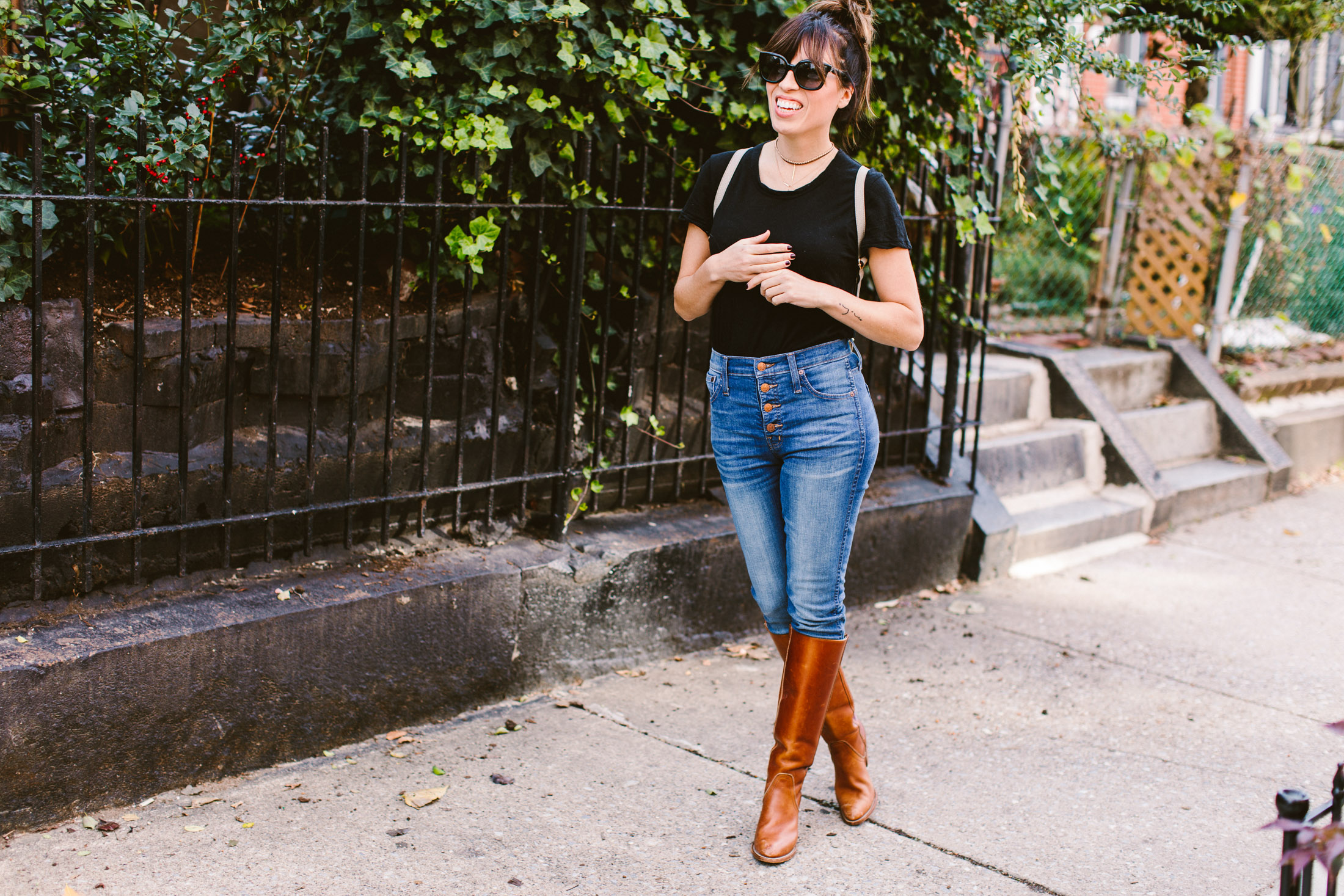 tall boots with jeans