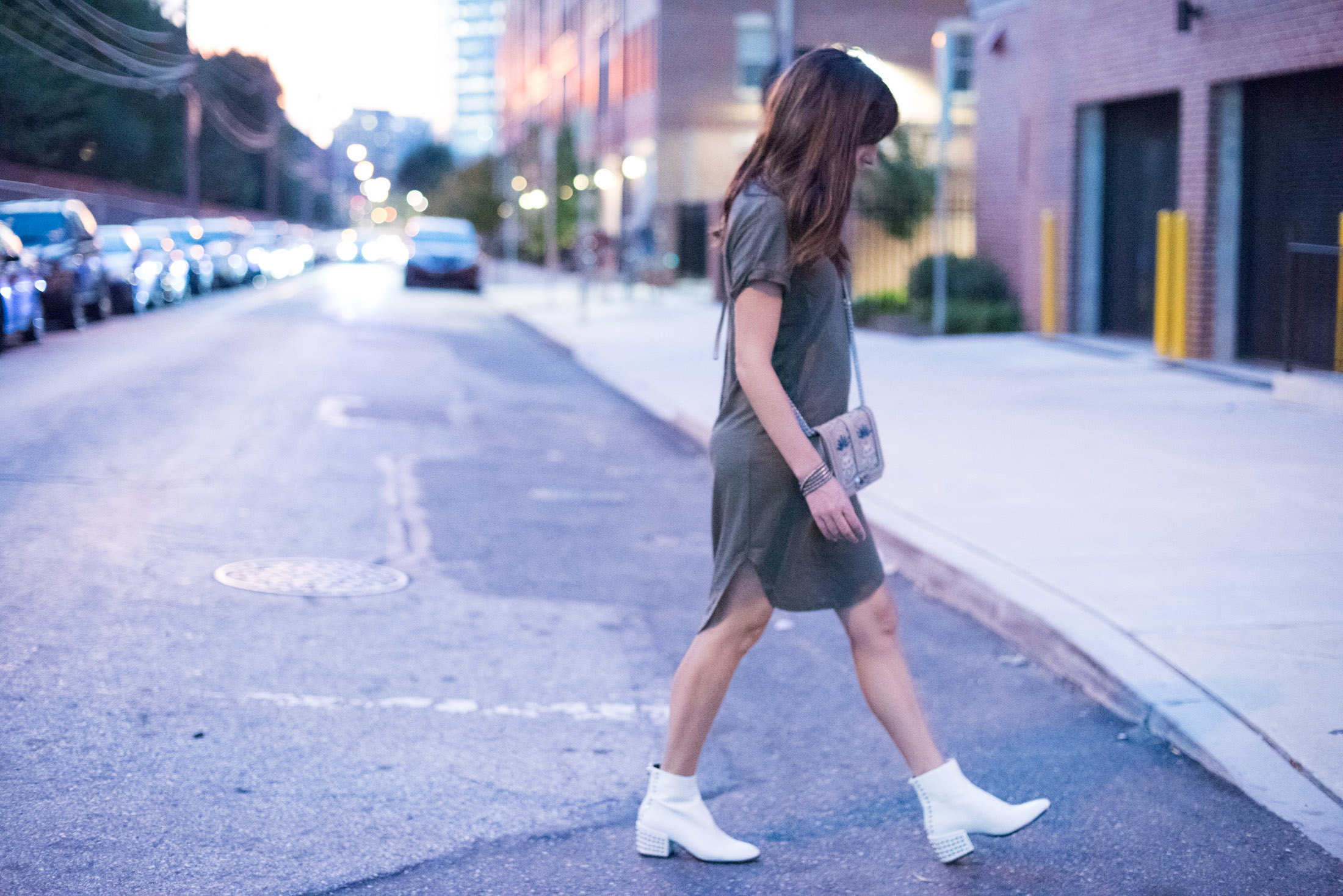 how to wear white ankle boots