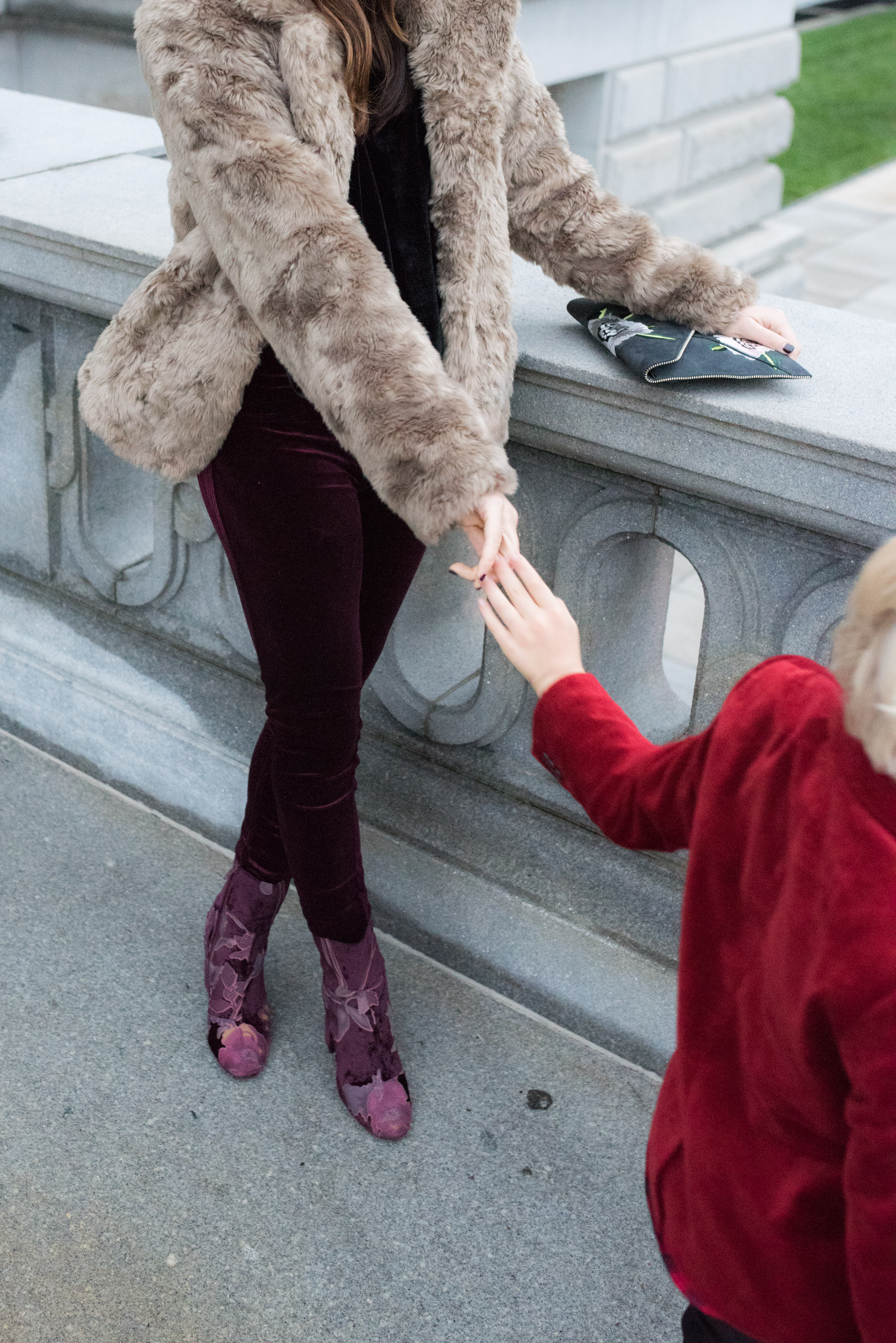 faux fur and velvet