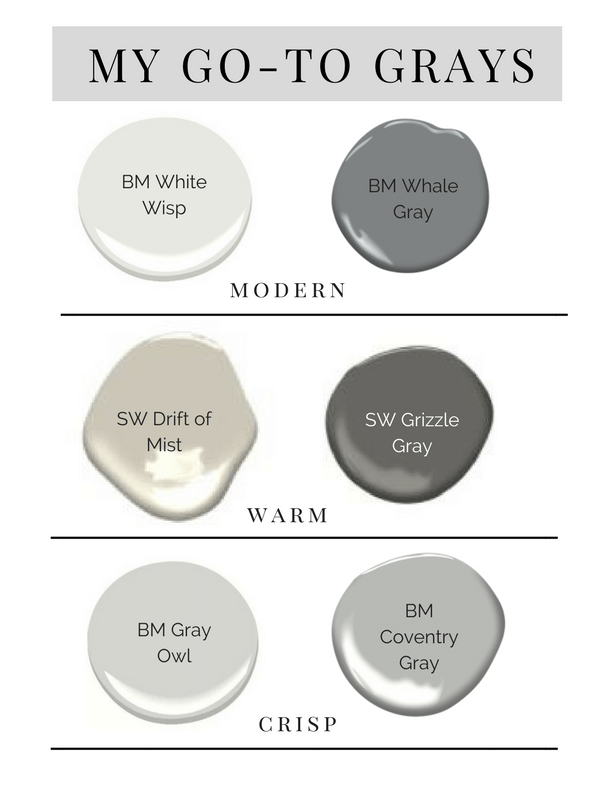 When You Get It Up On The Wall To Make Easy For Here Are A Few Of Our Go Gray Paint Colors And How We Use Them