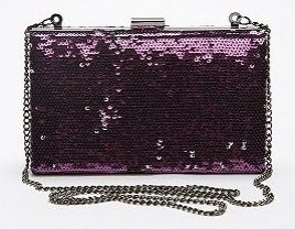 Urban Outfitters Sequin Box Purse - Lilac Silver