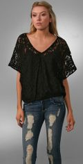 Beyond Vintage All Over Lace Blouse