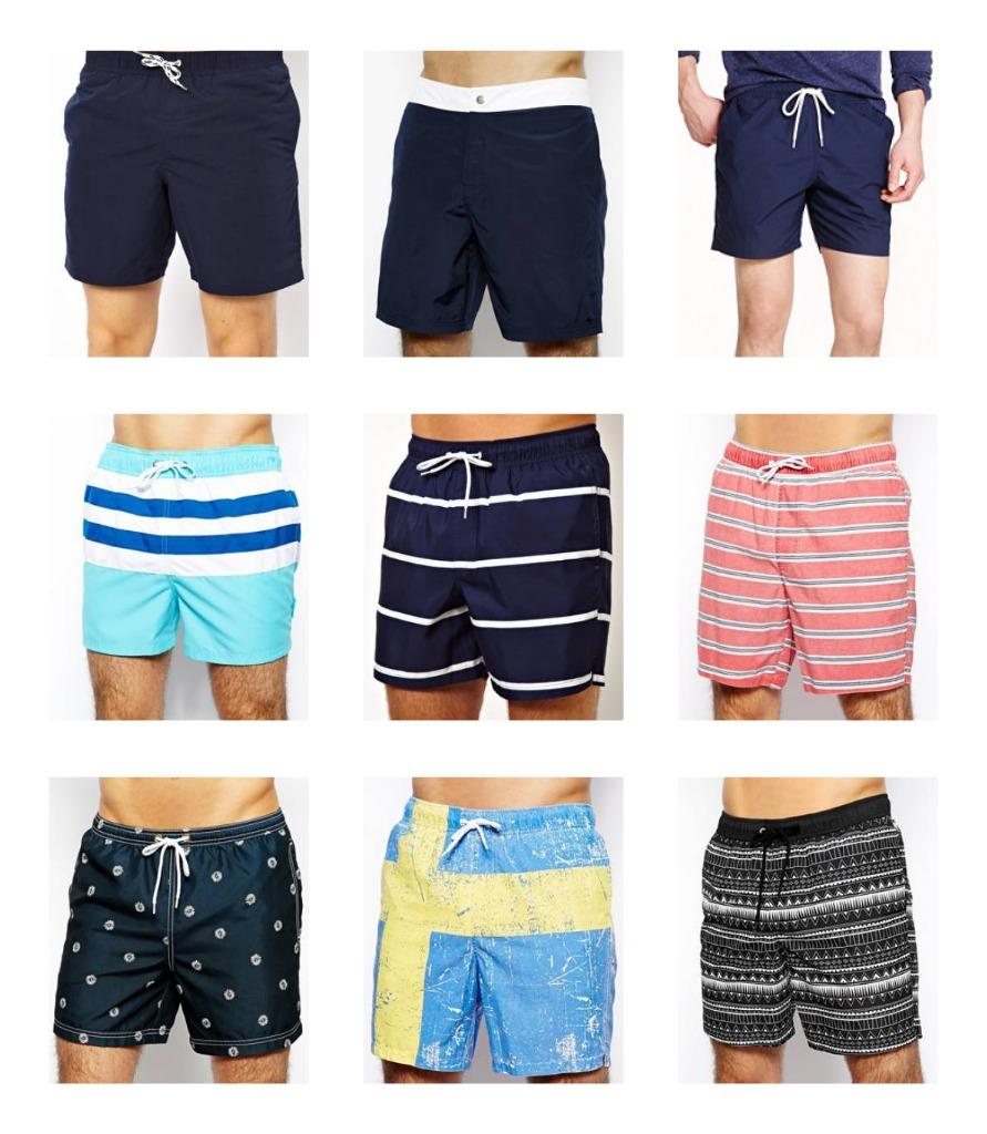 ZaKTrend Beachwear Shorts for Men Summer Knee Length Swim Trunks