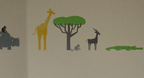 Modern Toddler Room - Safari Animal Wall Stickers