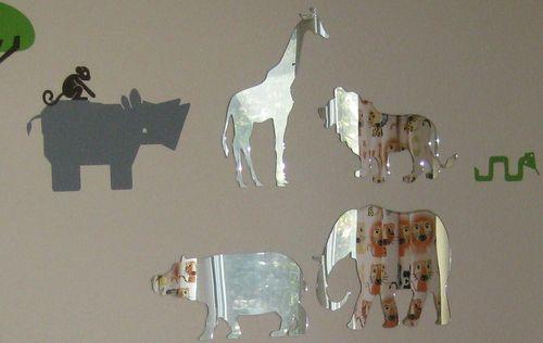 Modern Kids Room - Safari Animal Plexi Mirrors